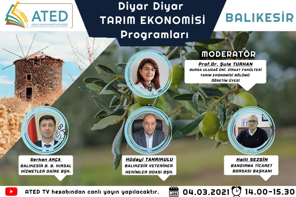 """Yönetim Kurulu Başkanı Halit Sezgin """"""""Diyar Diyar Tarım Ekonomisi""""  Programına Konuk Olacak."""